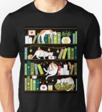 Library cats Unisex T-Shirt