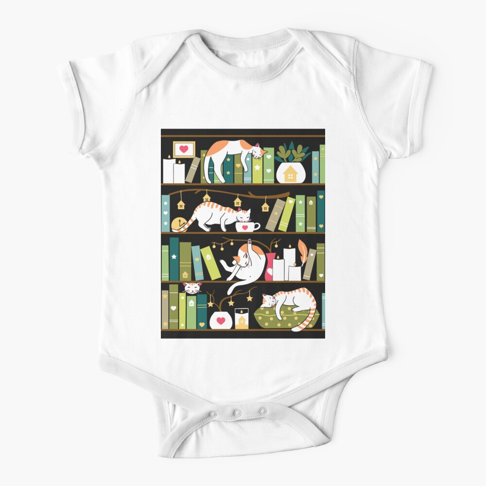 Library cats Baby One-Piece