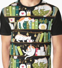 Library cats Graphic T-Shirt