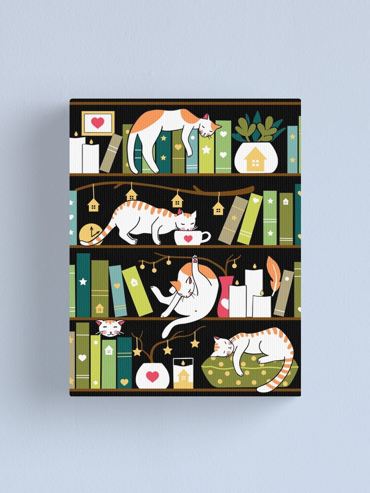 Alternate view of Library cats Canvas Print