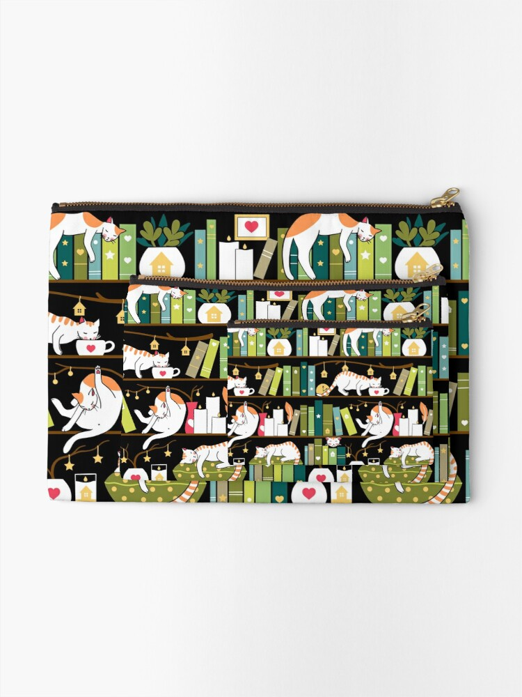 Alternate view of Library cats Zipper Pouch