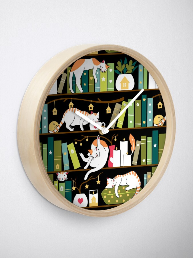 Alternate view of Library cats Clock