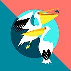 Pelicans von Pia Kolle