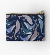School of whales Zipper Pouch