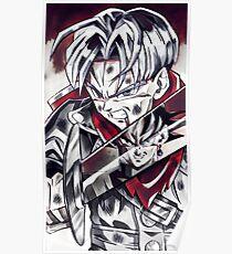 Black Goku vs. Trunk Poster