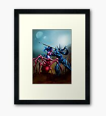 Spiderkin and the Elemental  Framed Print