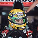 Ayrton Senna at the 1991 US Grand Prix by Marina Amaral