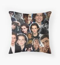 timothée chalamet collage (old version) Throw Pillow