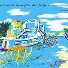 The Union Canal, Edinburgh with the Leamington Lift Bridge by Helen Imogen Field