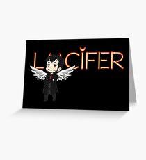 Lucifer Morningstar Greeting Card
