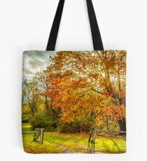 Autumn fence Tote Bag