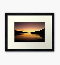 Loch Tay Sunset Framed Print