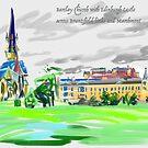 Edinburgh on iPad by He-Art.me by Helen Imogen Field