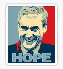 Robert Mueller HOPE in Obama Hope Poster style Anti-Trump Sticker