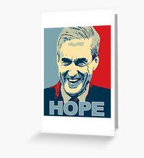 Robert Mueller HOPE in Obama Hope Poster style Anti-Trump Greeting Card