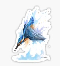 Diving Kingfisher Sticker