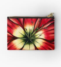 Red Lily Flower Studio Pouch