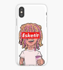 lil pump white iPhone Case/Skin