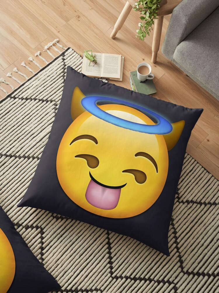 'Baddie Emoji' Floor Pillow by Jake DeSanta Store