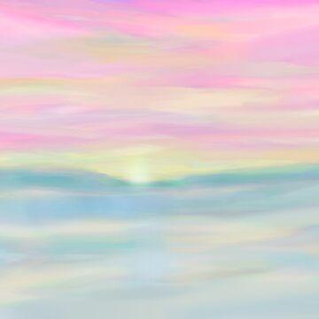 Pretty Pink Sunset by SundayMornArt