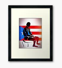 Custom Stencil Man (Puerto Rico) Framed Print