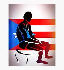 Custom Stencil Man (Puerto Rico) Photographic Print