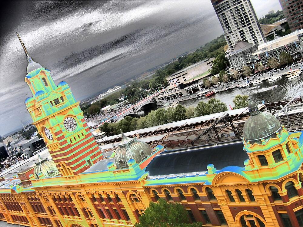 Groovy Flinders Street Station by Anton Werner