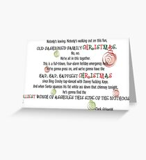 Clark Griswold Christmas Quote Greeting Card
