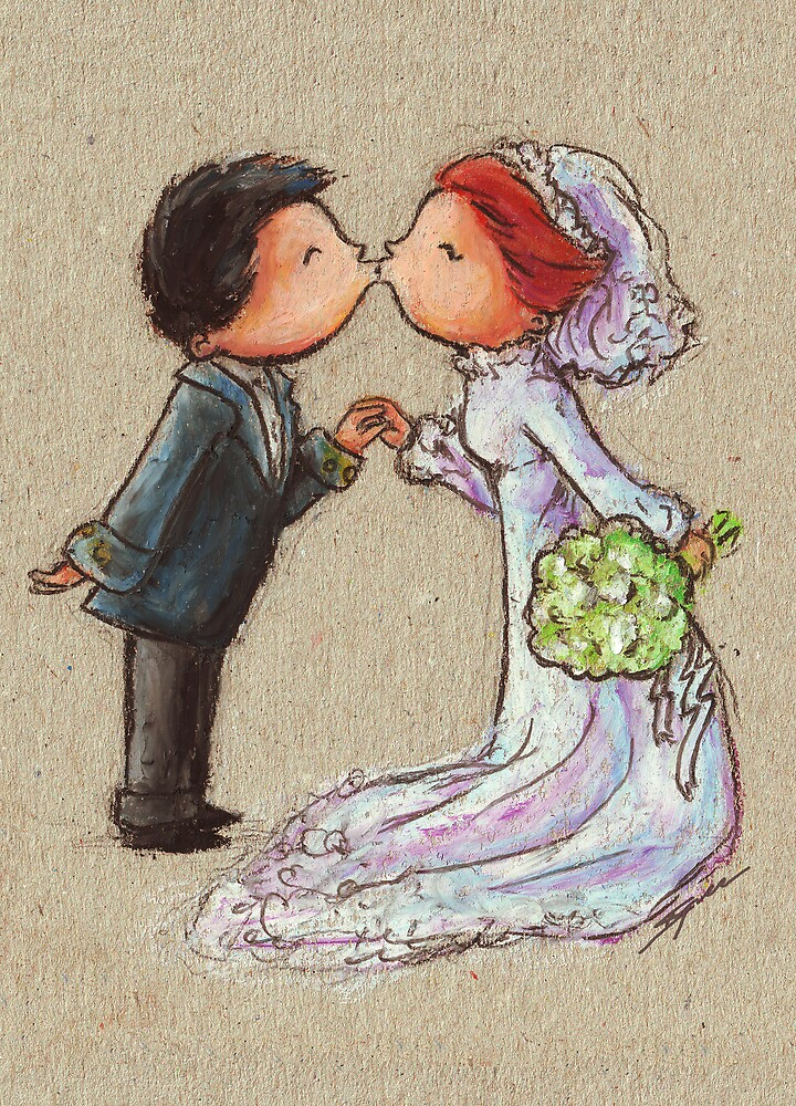 Wedding Kiss by Ine Spee