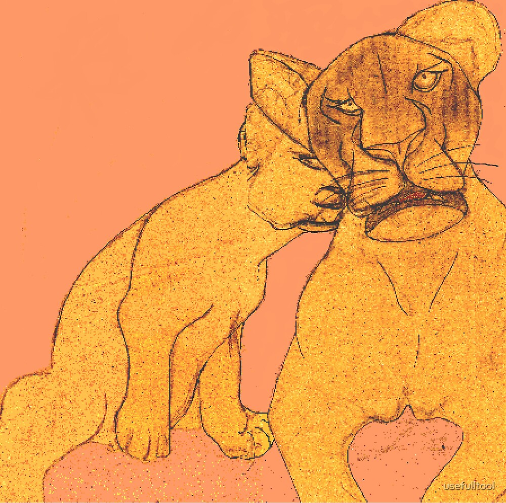 lioness and cub by usefulltool