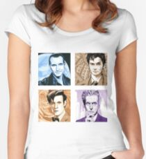 Time Travellers Nine to Twelve! Women's Fitted Scoop T-Shirt