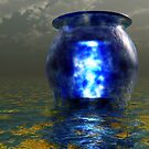 Blue Urn, Gold Sea by Keith Reesor
