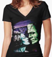Camiseta entallada de cuello en V Bride & Frankie Monsters en el amor