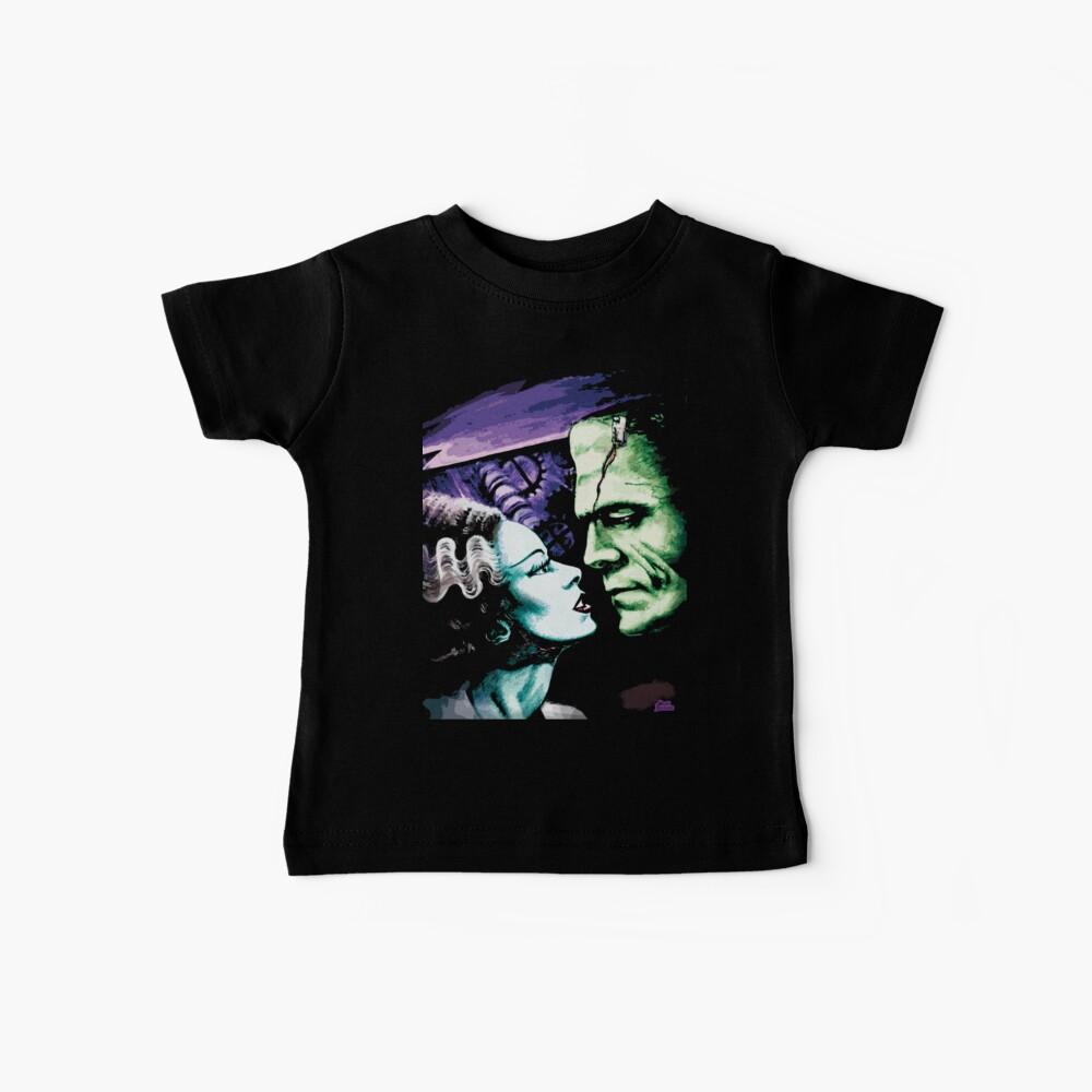 Bride & Frankie Monsters in Love Baby T-Shirt