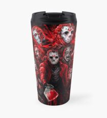 Jason Voorhees (Many faces of) Travel Mug