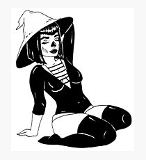PIN UP WITCH Photographic Print