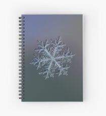 Real snowflake - Hyperion dark Spiral Notebook