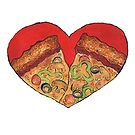 Pizza Art Heart by MustardBuffalo