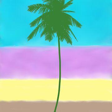 Florida Palm Tree by SundayMornArt