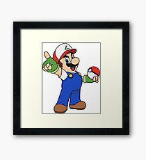 Super Mario x Ash Ketchum Framed Print