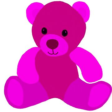 Bright Pink Teddy Bear by kjhart8