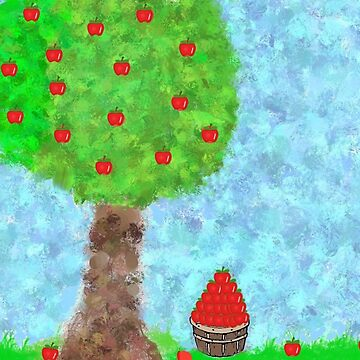 A barrel of apples from the ole apple tree by SundayMornArt