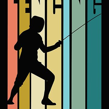 Fencing Retro Design - Fencing   by kudostees