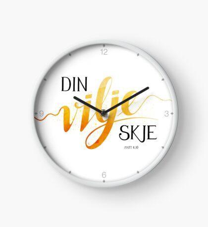 Din vilje skje Clock