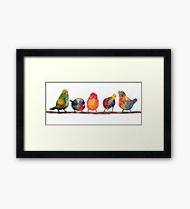 Sweet Watercolor Song Birds Framed Print