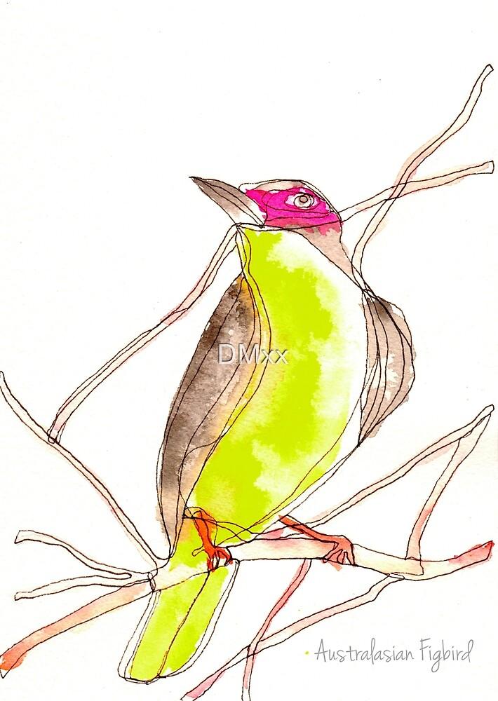Birds in INK~ Australasian Figbird by DMxx