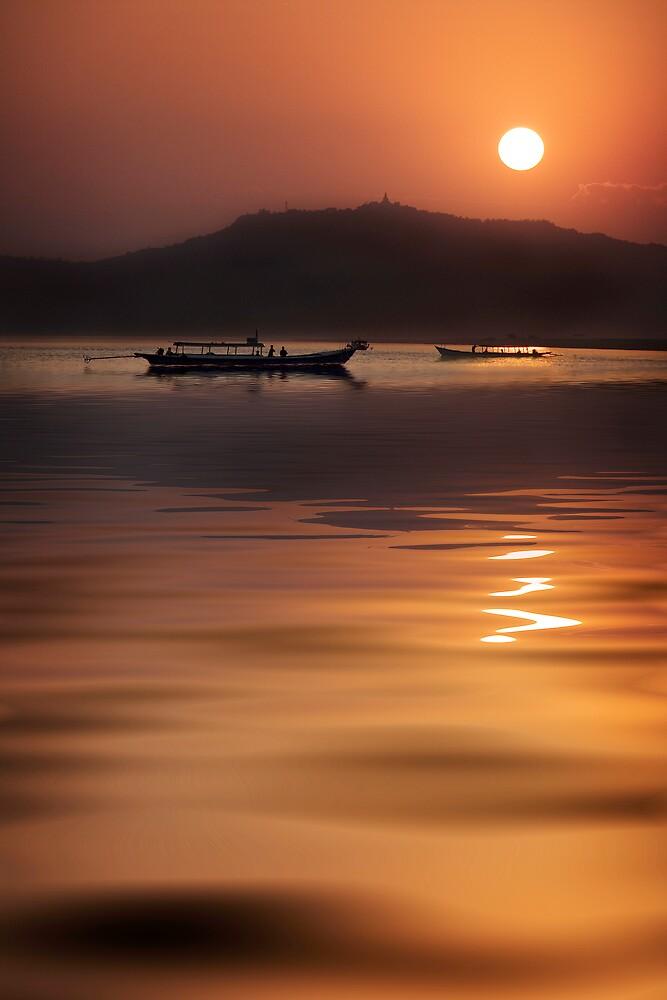 Evening on the river.  by DaveBassett