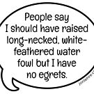 People Say... No Egrets by jonlehre