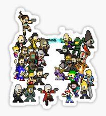 Epic 8 bit Battle! Sticker