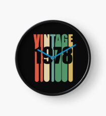 40th Birthday Retro Design - Vintage 1978 Clock